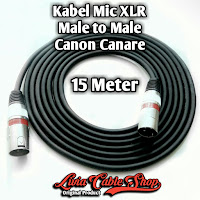 Kabel Mic XLR Male To Male Canon Canare 15 Meter