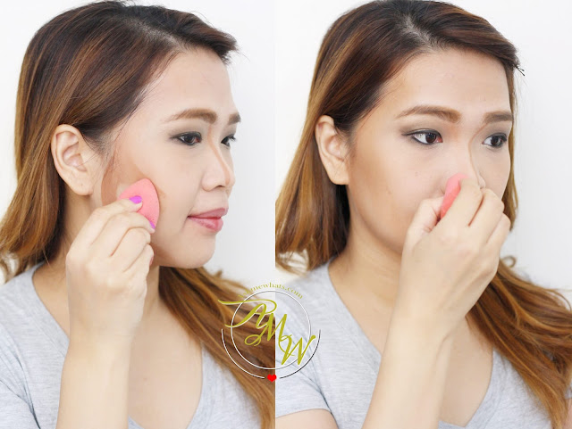 a photo on how to apply W.Lab 3D Face Shading Stick