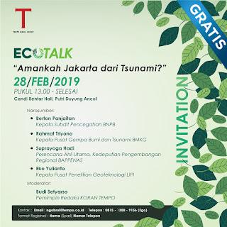 Diskusi Ecotalk: Amankah Jakarta Dari Tsunami?