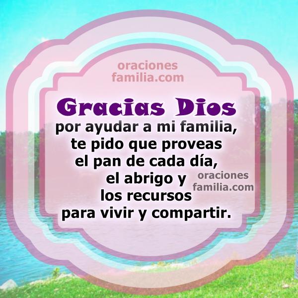 Oración por la familia, frases con oraciones de bendición para mi familia, imágenes con oraciones cortas de familia, hijos por Mery Bracho.