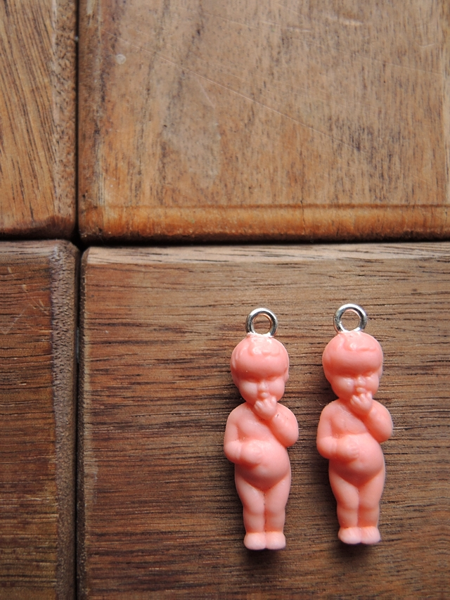 baby doll earrings - free tutorial/ babypop oorbellen - gratis tutorial