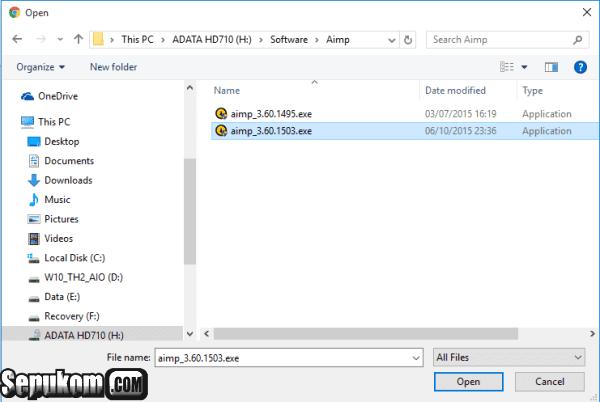 Cari Lokasi File Yang Akan di Upload lalu Klik Open