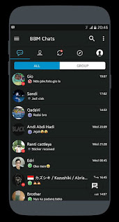 BBM MOD Dark iOS v3.3.1.24 Unclone Terbaru Gratis Download