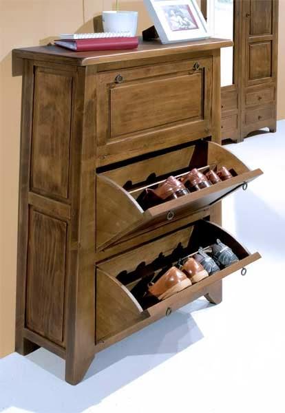 mueble zapatero rustico, mueble rustico para zapatos