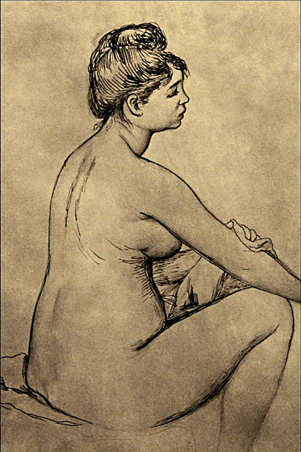 Pierre Auguste Renoir - Bagnante che si asciuga - nudo pittorico femminile