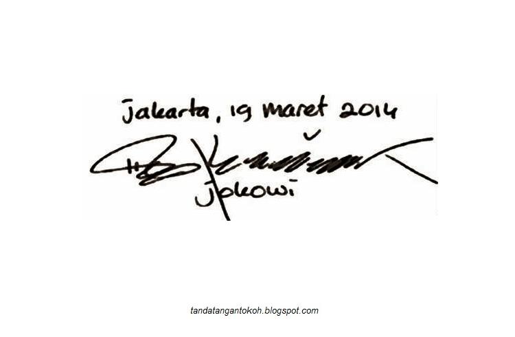 Tanda Tangan Jokowi | Download Lengkap