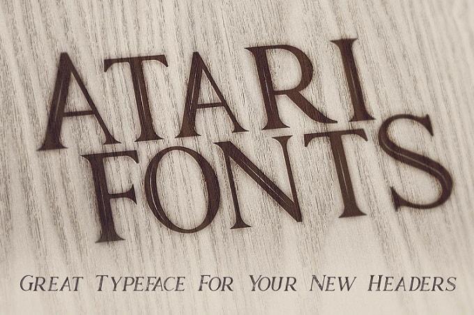 Font Edisi Januari 2017 - Atari Bold Font