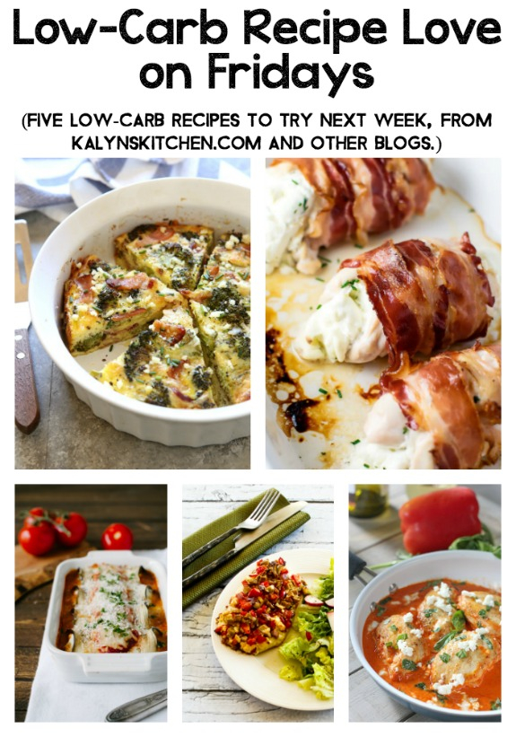Low-Carb Recipe Love on Fridays found on KalynsKitchen.com