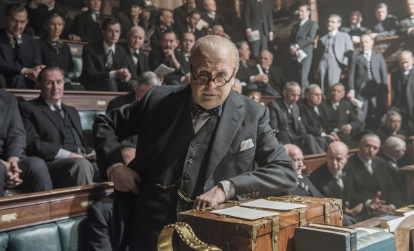 Gary Oldman takes charge as Prime Minister Winston Churchill in DARKEST HOUR (2017)