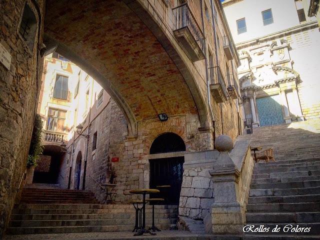 Pujada de San Domènec. Escales de Sant Martí. Girona