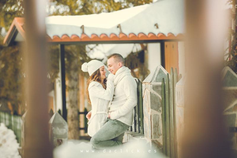 pareja casa nevada