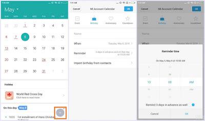 Pengingat Tanggal Penting Pada HP Xiaomi