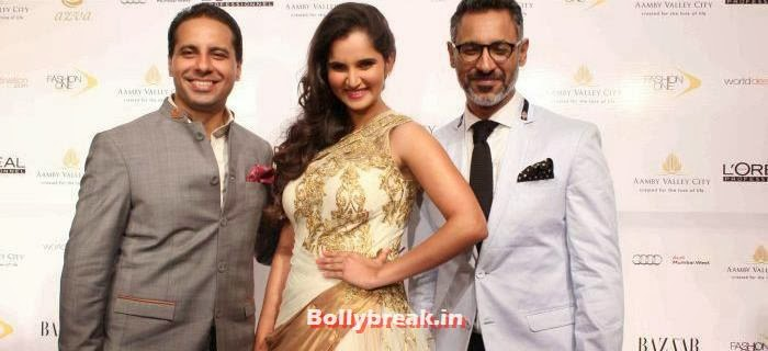 Sania Mirza at Shantanu & Nikhil Show at Aamby Valley City India Bridal Fashion Week 2013, Sania Mirza Ramp Walk at IBFW 2013