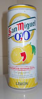 cerveza San Miguel 0,0 sabor Limón
