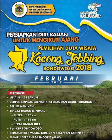 Pemilihan duta wisata Kacong Jebbing Bondowoso