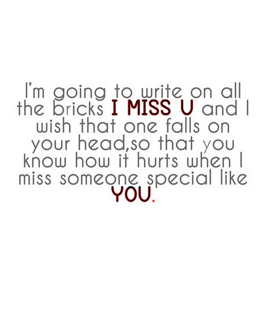Gonna Miss You All Quotes: I Am Going To Write On All The Bricks I Miss You