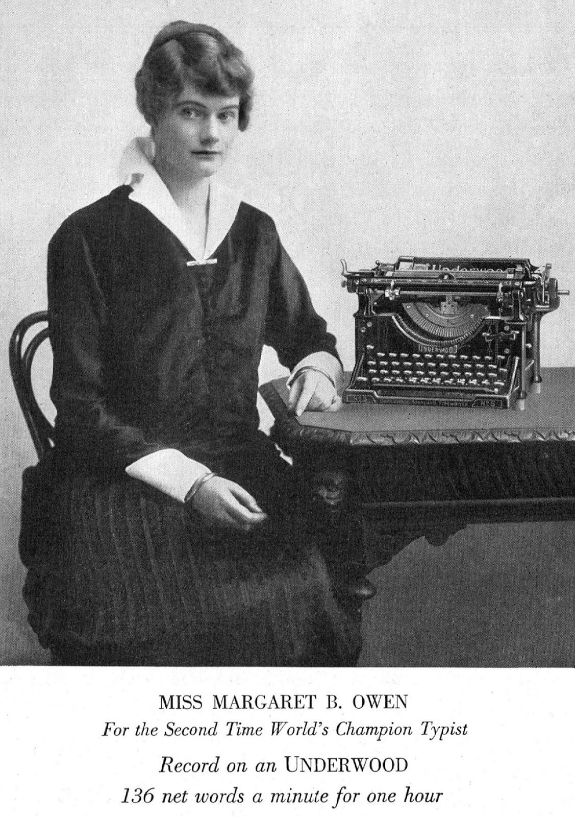 oz Typewriter: See the Beautiful Margaret Benedict Owen, World's