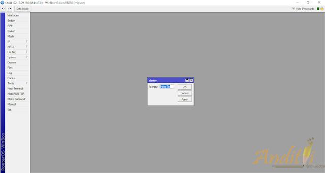 Cara Mengganti Nama Identity di Mikrotik Router-anditii.web.id