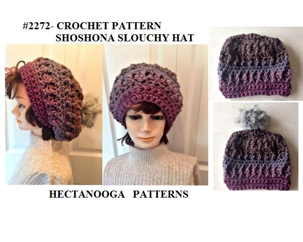 Hectanooga Patterns Free Crochet Pattern Shoshona Slouchy Hat