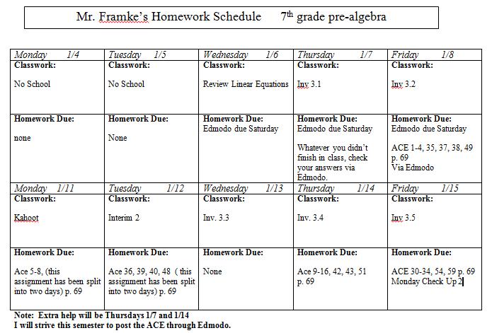 Math homework help for 7th grade