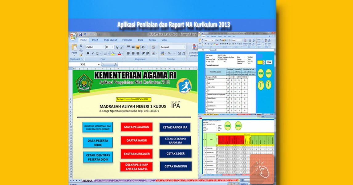 Download Aplikasi Penilaian Dan Raport Ma Kurikulum 2013