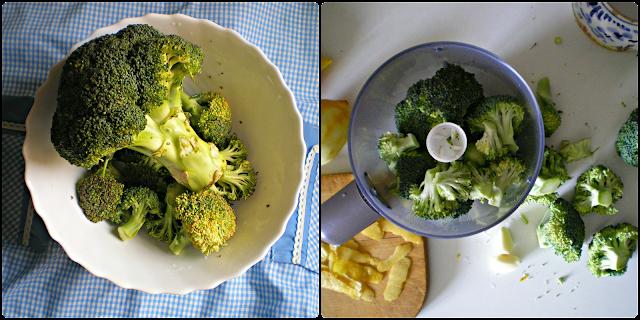 Espaguetis con pesto de brócoli y limón: Elaboración del pesto