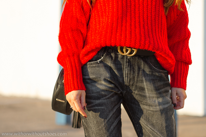 Cinturón de cuero negro Belt Gucci