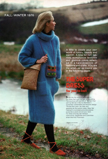 The Vintage Pattern Files: 1970s Free Knitting Pattern - The Super Dress