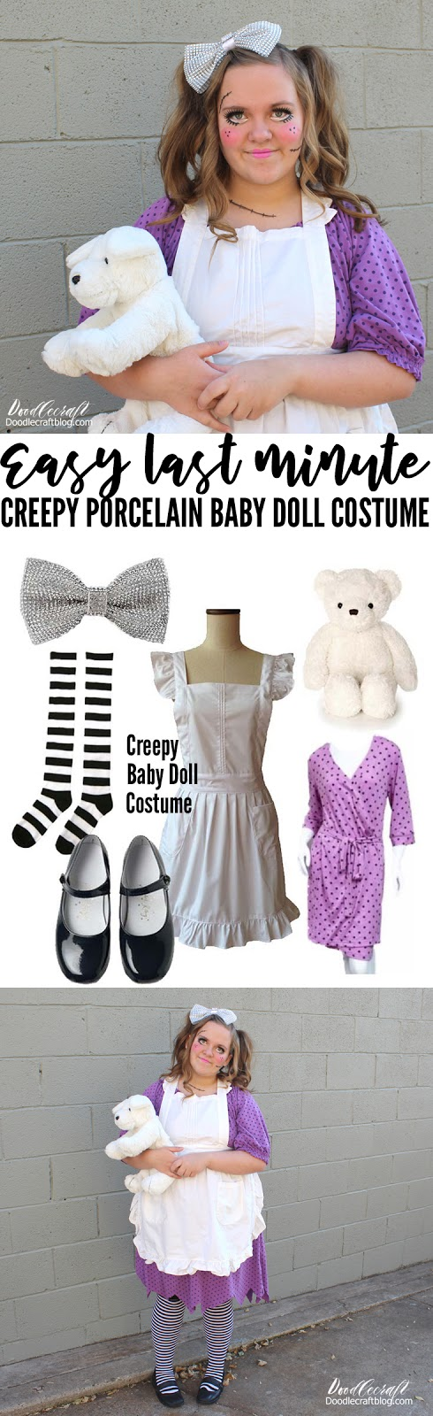 Creepy Porcelain Baby Doll Costume Diy