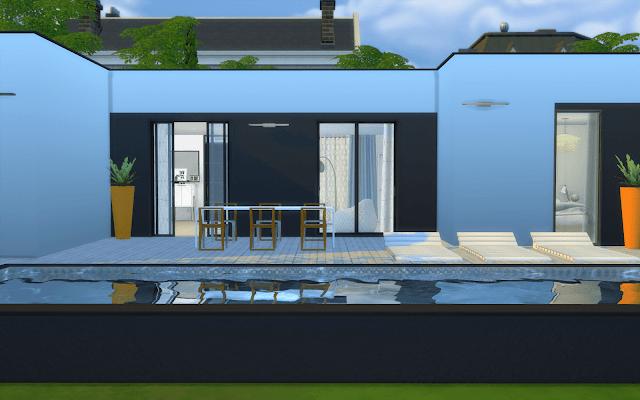maison décorée sims 4