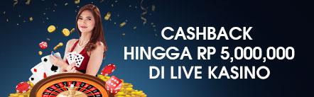 Main Live Casino M88 Dapat CashBack Besar