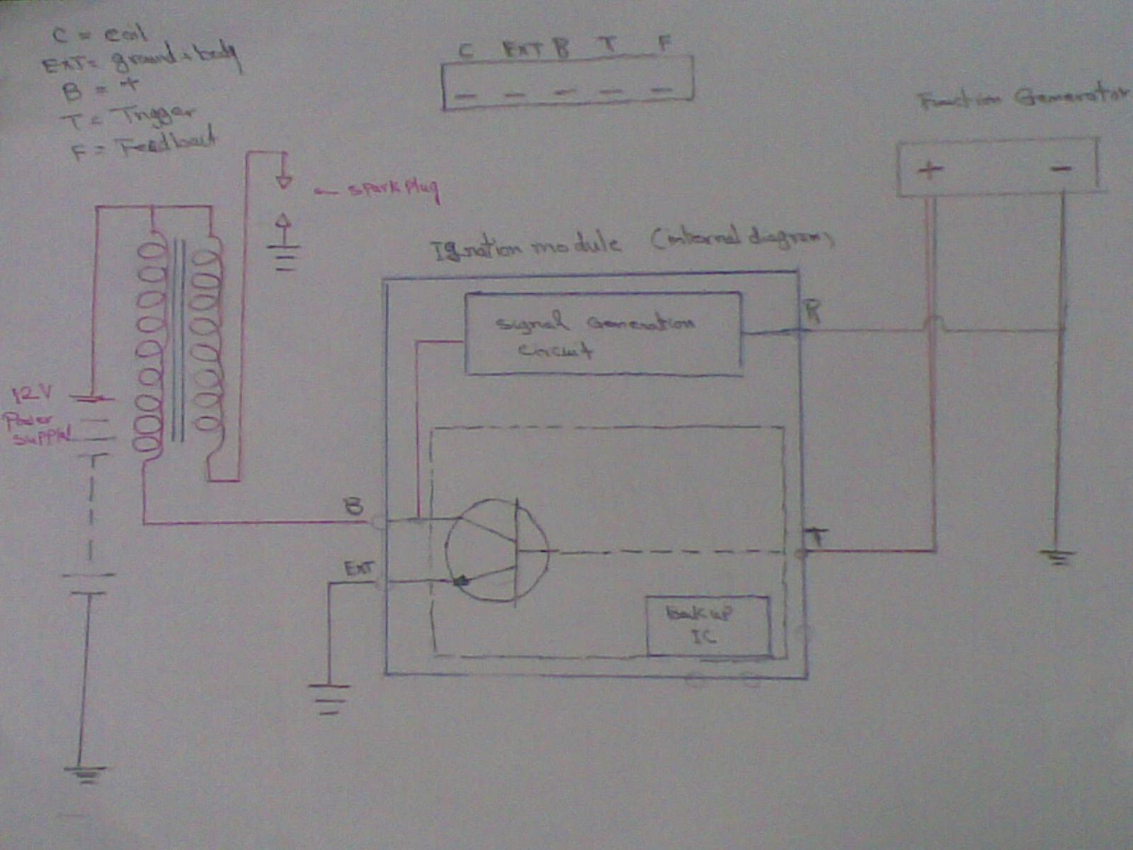 electronic spark control knock sensor circuit diagram