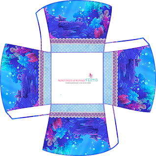The Little Mermaid Birthday: Free Printable Boxes.