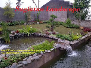 Landscape-taman-kolam-air-terjun