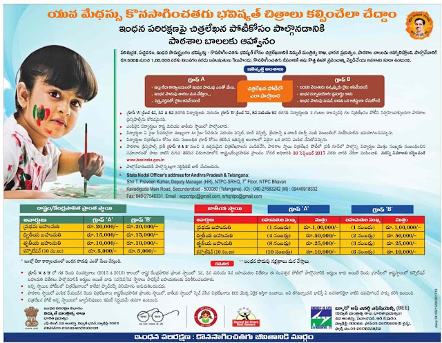 School, State, National Level Painting Competitions on Energy Conservation 2017