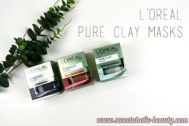 L'Oreal Pure Clay Masks Review - Sweetaholic Beauty