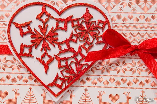 Świąteczna kartka z sercem