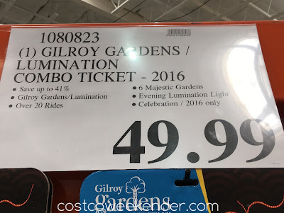 Deal for Gilroy Gardens Day and Night Combo Ticket (2016) at Costco