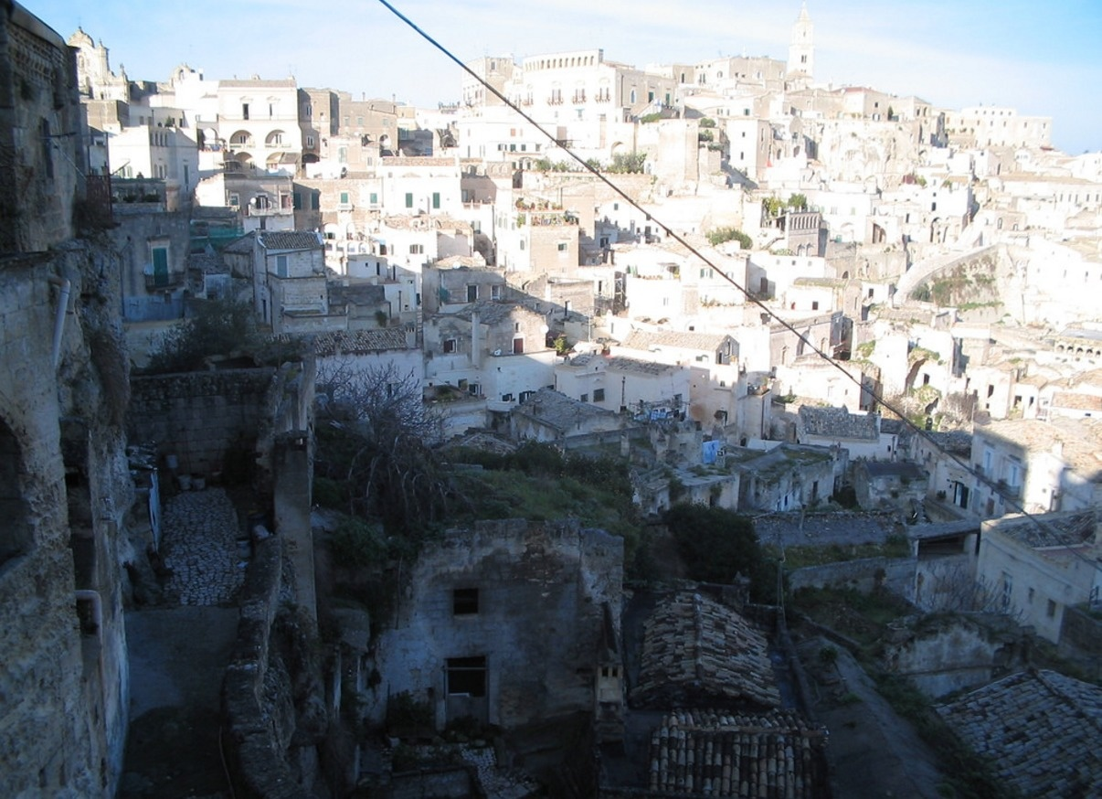 travel to the city of sassi di matera in Italy
