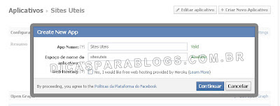 aplicativo de comentarios do facebook no blogger