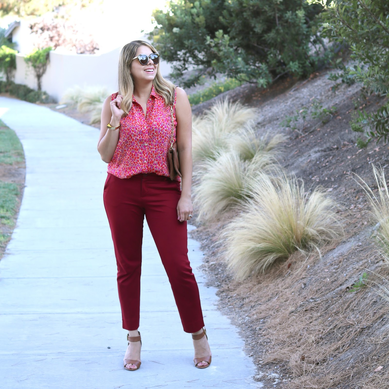 business casual, fall fashion 2016, burgundy outfit,