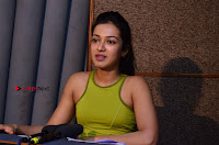 Actress Catherine Tresa Pos during Self Dubbing for Gautham Nanda Movie  0004.JPG
