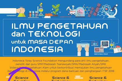 Penghargaan Guru Deadline 31 Agustus 2018 dari Indonesia Toray Foundation Senilai Rp.25 Juta - Rp.100 juta untuk Guru dan Peneliti