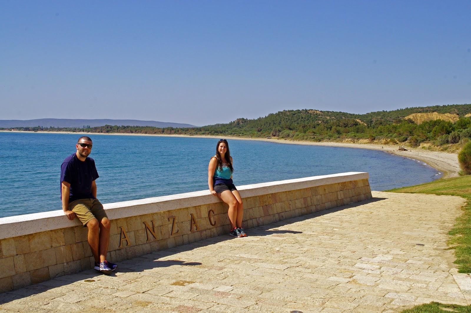 Couple at Anzac Memorial Gallipoli