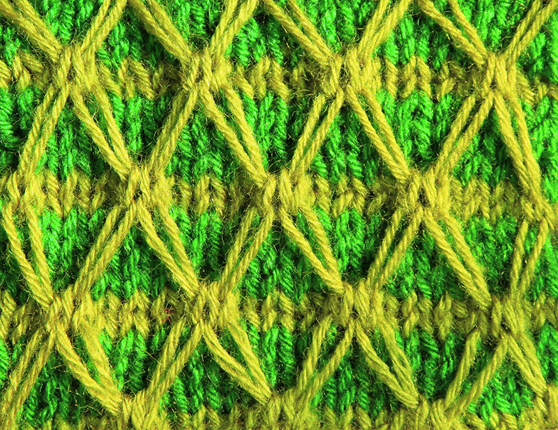Anything Creative: Multicolor Knit Pattern a Day - Day 9 - TWO COLOR DIAMOND ...