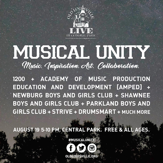 Aug 19 - Musical Unity, Old Louisville LIVE in Central Party
