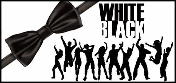 White and Black Party Free Printable Labels.