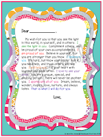 Letter to Student - Colorful Frame Version