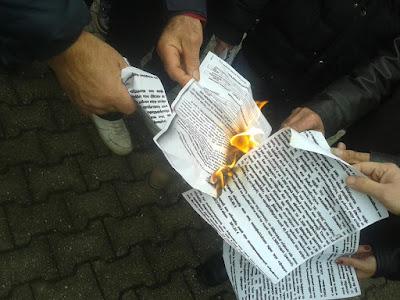 Διαμαρτυρία στο ΙΚΑ Κατερίνης.