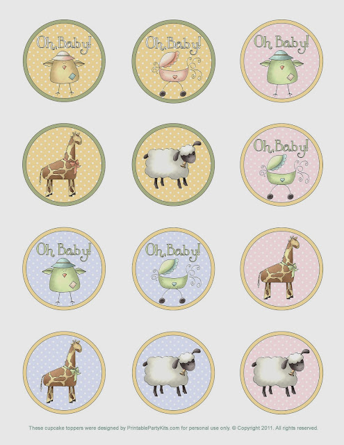 Animals for Baby Shower: Free Printable Kit.